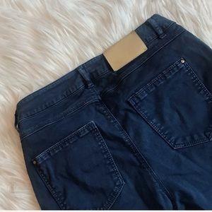 Zara Basic High Rise Blue Denim Jeggings, 26